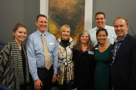 Morgan Knowles, Clay Selby, Susan Russell Hall, Kristin Johnson, Clemencia Castro-Woolery, Stu Morgan, and Jason Whalen