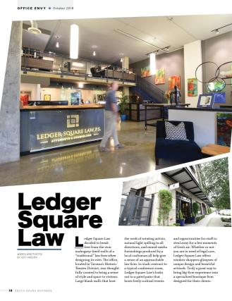 South Sound Business Magazine article on Ledger Square Law's office space - Page 1